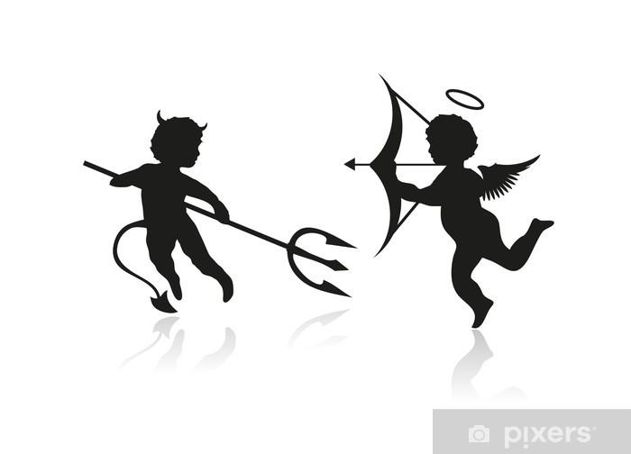 Sticker Engel En Duivel Pixerstick