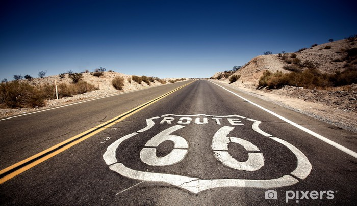 Fototapeta winylowa Znani Route 66 - Tematy