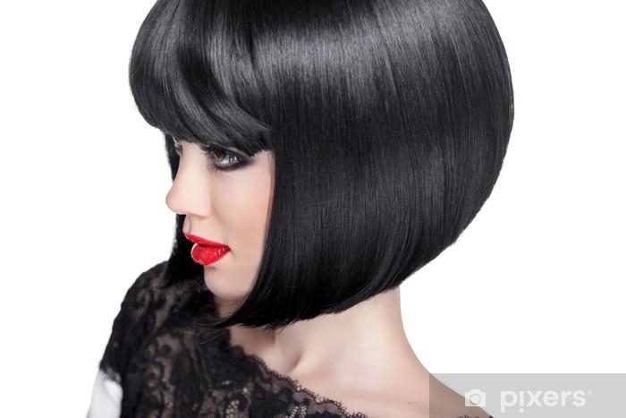 b81c1fb236 Vinilo Pixerstick Mujer morena retrato. estilo de pelo corto negro. Belleza  de la moda