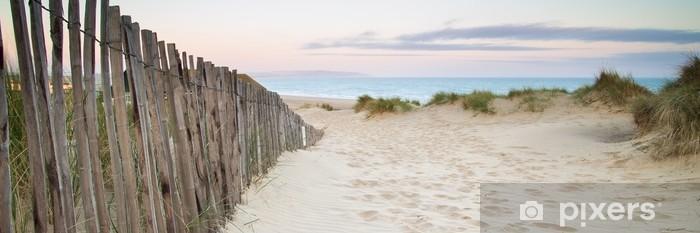 Fototapeta winylowa Panorama krajobraz systemu wydmy na plaży o wschodzie słońca - iStaging