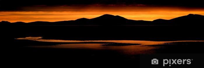 Naklejka Pixerstick Zakres oszałamiająca panorama krajobraz górski i plaża w żywy - Góry