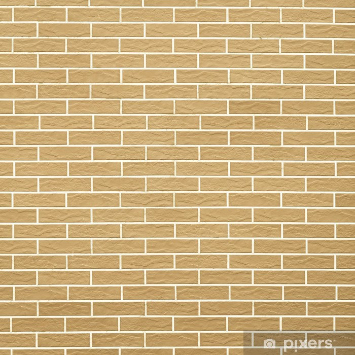 Closeup Of Yellow Brick Wall As Background Or Texture Wall Mural Vinyl