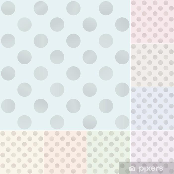 Papier peint Pois sans soudure avec des couleurs pastel argentées