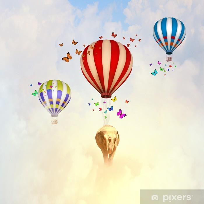Poster Éléphant volant - Animaux imaginaires