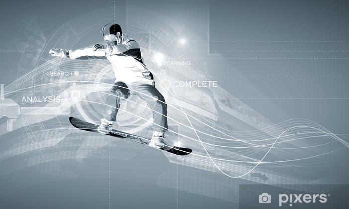 Papier peint vinyle Snowboarding - Hommes