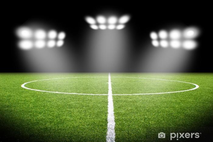 Fototapete Fussball Stadion Fussball Feld Hintergrund Publikum Uberfullt Sp