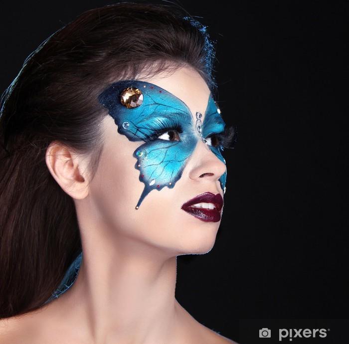 Papier peint vinyle Face à l'art portrait. Mode maquillage. Papillon maquillage sur le visage bea - Thèmes