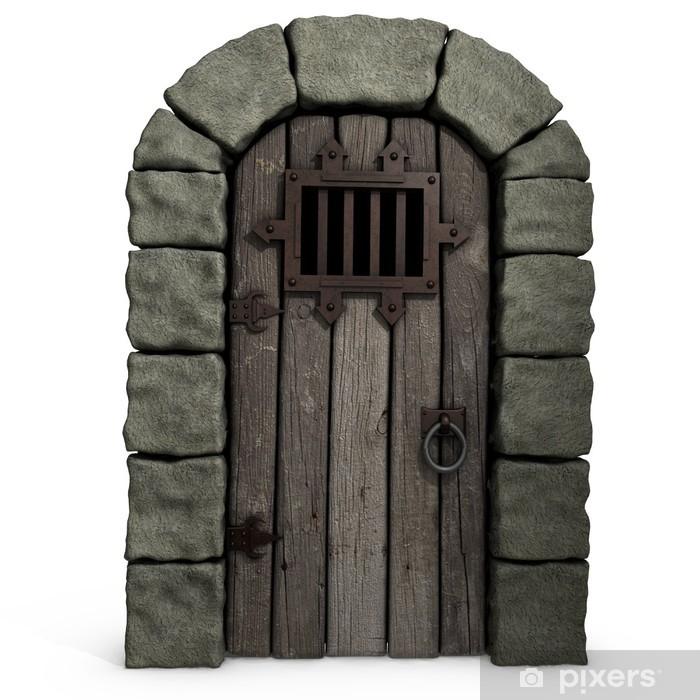 3d Illustration Of A Castle Door Wall Mural Pixers 174 We