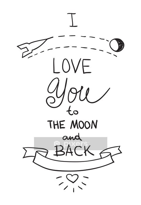 Handdrawn quotation about love Wall Decal - Themes