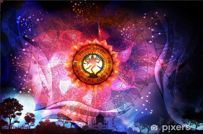 Vinyl-Fototapete Mandala Verehrung von Shiva -