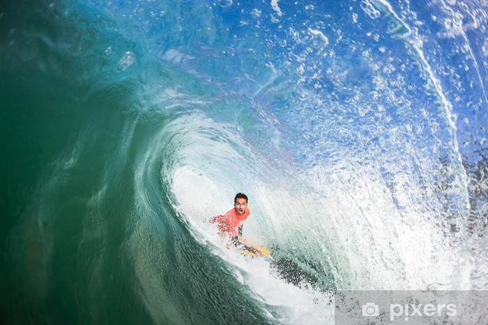 Vinyl Fotobehang Surfen Bodyboarder Binnen Holle Golf - Amusement