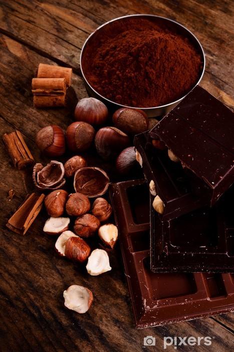 Papier peint vinyle Chocolat et ingrédients -