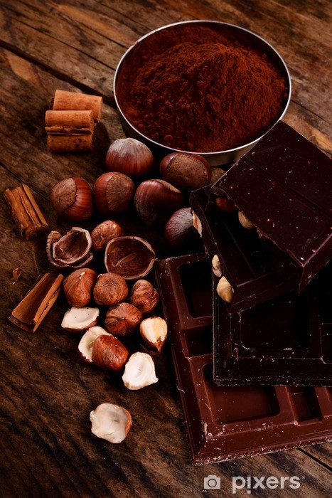 chocolate and ingredients Vinyl Wall Mural -