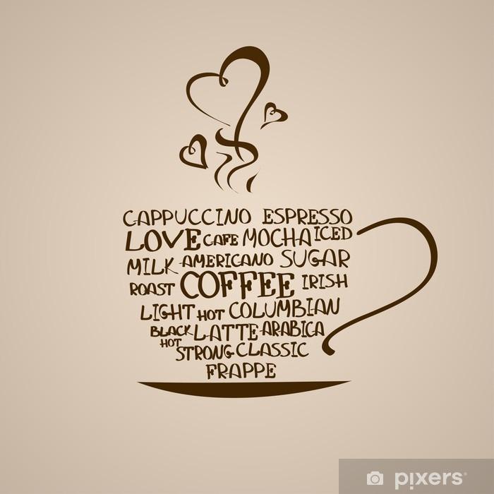 Poster Geïsoleerde pictogram van een koffiekopje - Stijlen