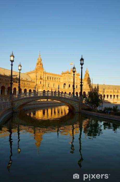 Pixerstick Sticker Plaza van Spanje, Sevilla, Spanje - Europa