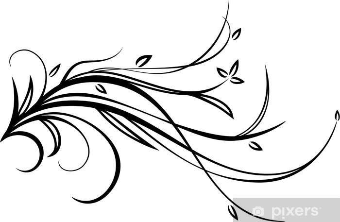 Naklejka Pixerstick Kwiatowy wzór - Rośliny