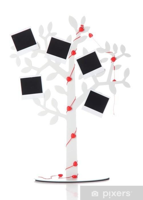 Vinylová fototapeta Držák ve tvaru stromu s instantní fotografie karty izolovaných - Vinylová fototapeta