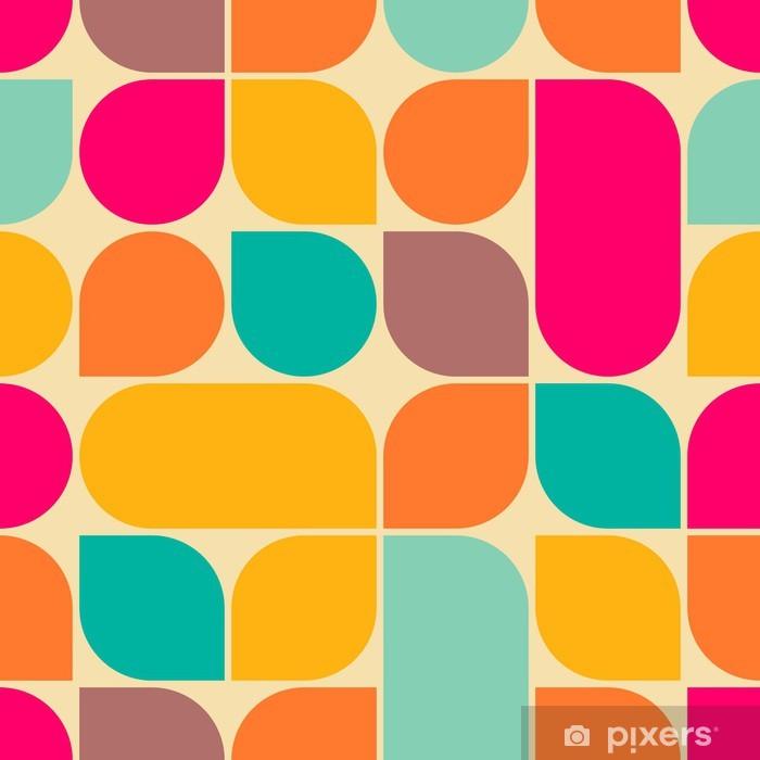 Pixerstick-klistremerke Retro abstrakt sømløs mønster -