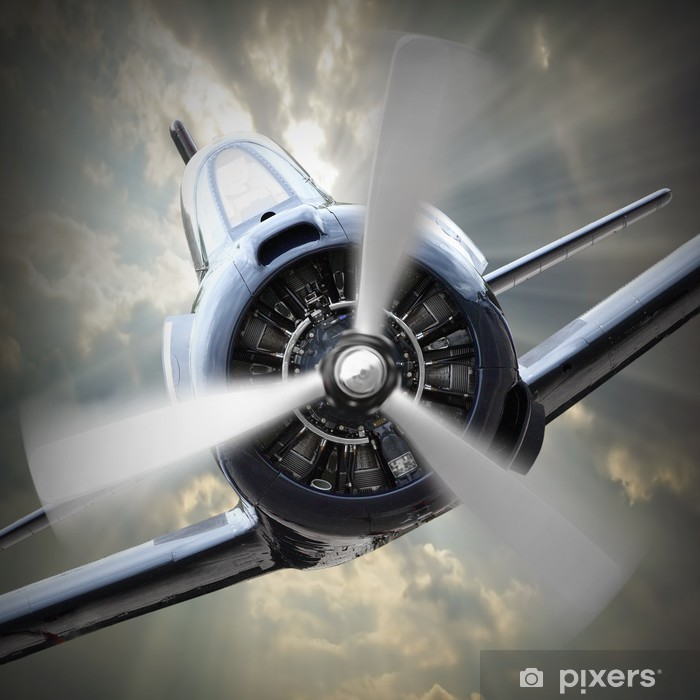 Propeller plane. Pixerstick Sticker - Themes