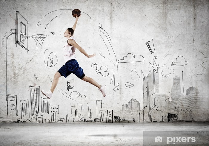 Vinylová fototapeta Basketbalový hráč - Vinylová fototapeta