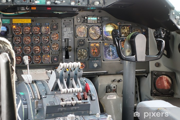 Fototapeta winylowa Kokpit quadriréacteur - Transport powietrzny
