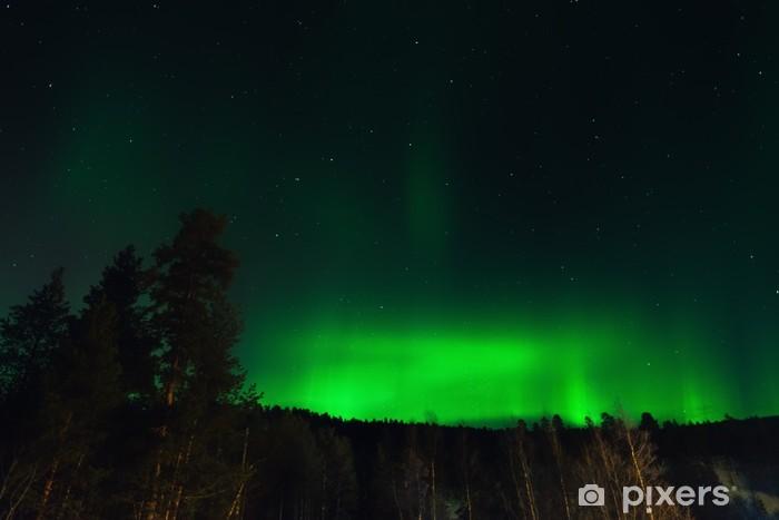 Sticker Pixerstick Aurora Borealis en Norvège - Europe