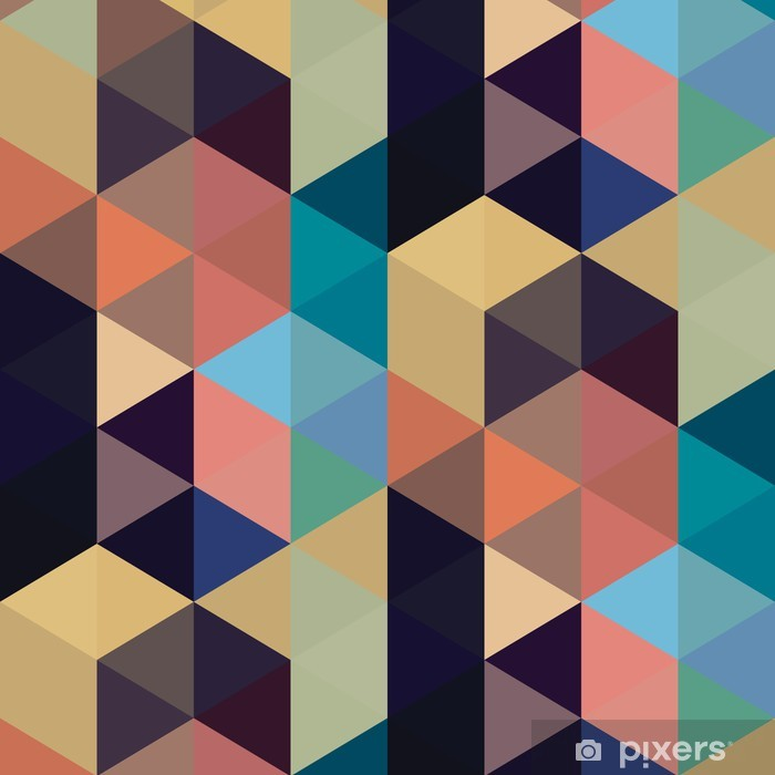 Abstract triangle seamless pattern Pixerstick Sticker - Art and Creation