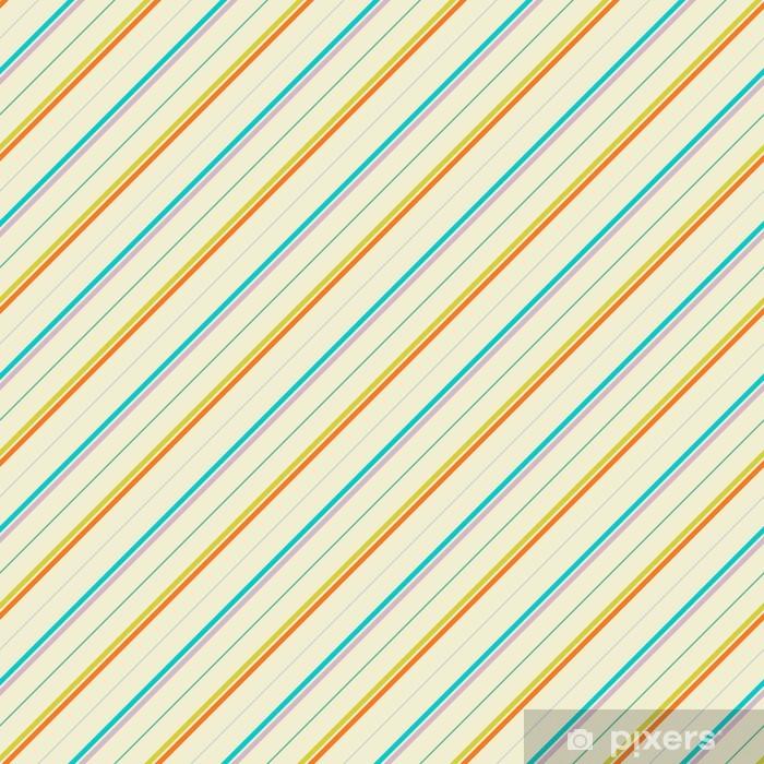 Vintage diagonal stripe vektor sømløs mønster (flisebelægning) Vaskbare fototapet - Kunst og Skabelse