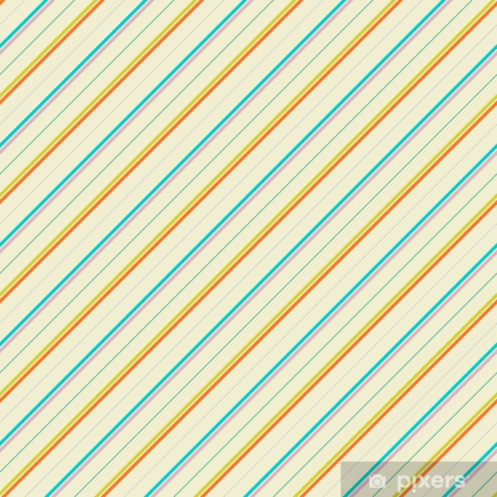 Vintage diagonal stripe vector seamless pattern (tiling) Washable Wall Mural - Art and Creation