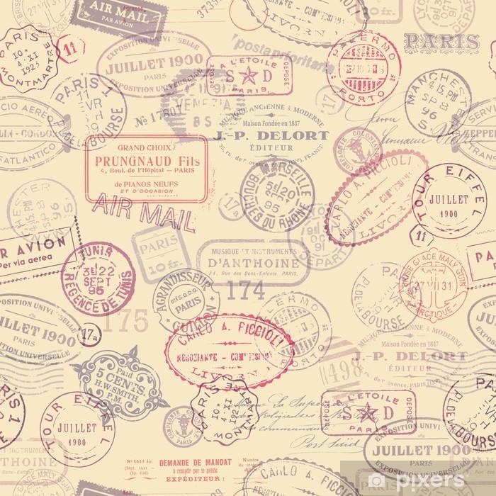 Afwasbaar Fotobehang Port thema achtergrond met vintage stempels (tegelwerk) - Stijlen