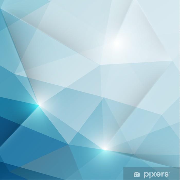 Naklejka Pixerstick Tło abstrakcyjne geometryczne trójkąty - Tematy