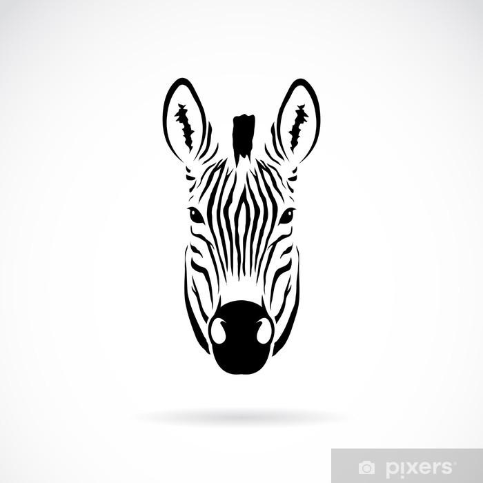 Vector Image Of An Zebra Head Wall Mural Pixers We Live To Change