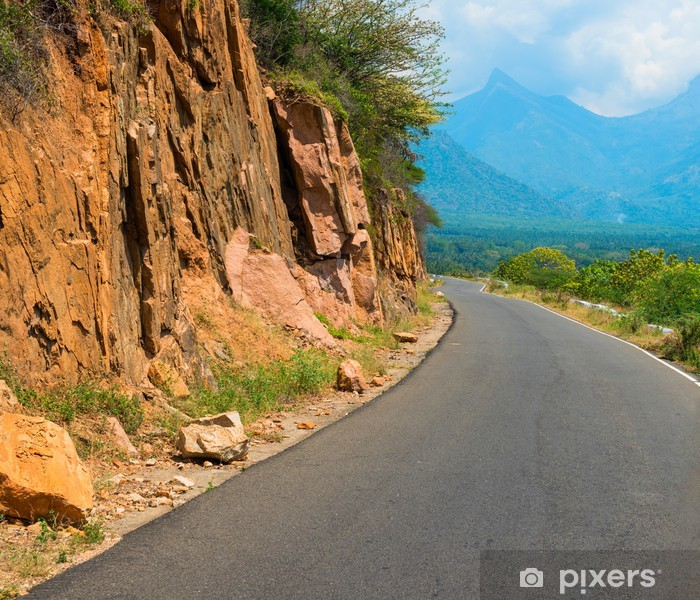Plakat Kręta droga w górach, Indie, Kerala - Azja