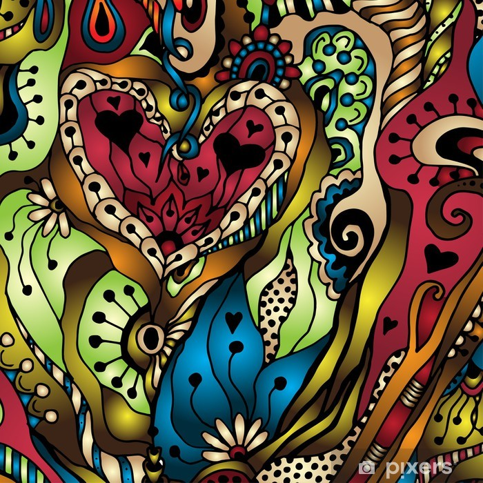 Vector abstract floral decorative background. Vinyl Wall Mural - Flowers