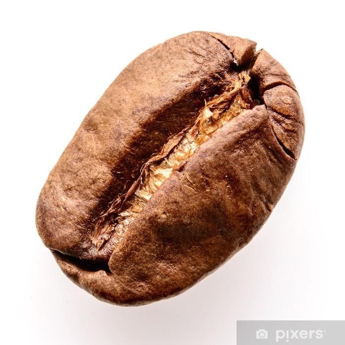 Nálepka Pixerstick Coffee bean izolovaných na bílém - Horké nápoje