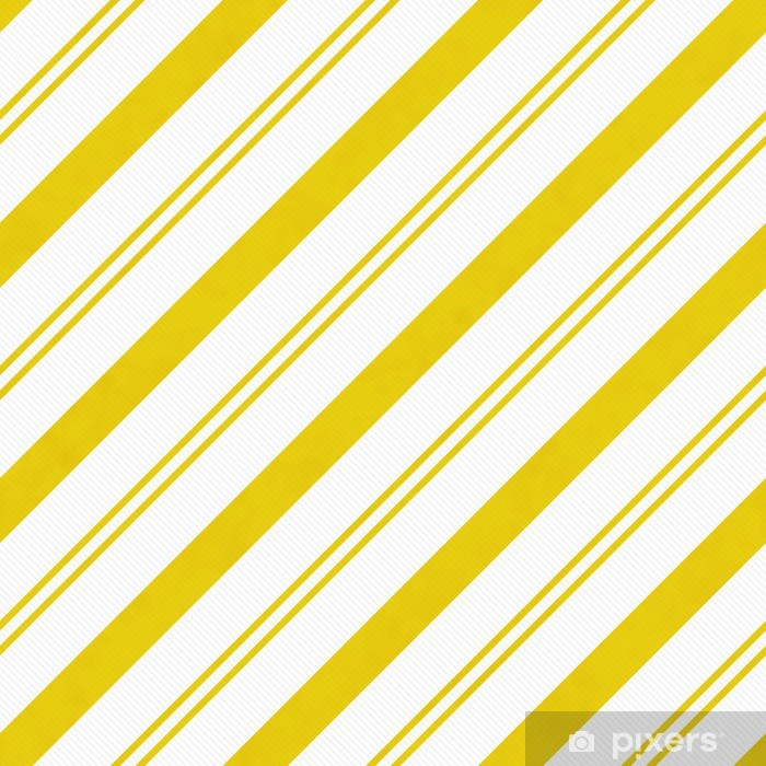 Yellow Diagonal Striped Textured Fabric Background Pixerstick Sticker - Backgrounds