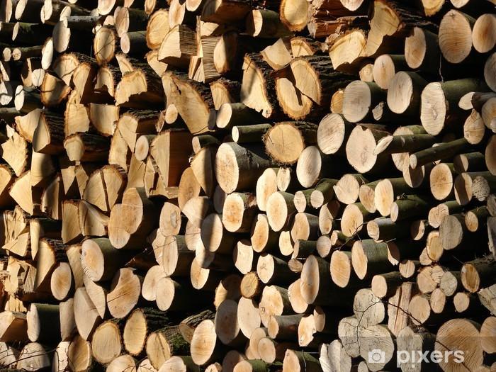 Naklejka Pixerstick Holzstapel - Ekologia