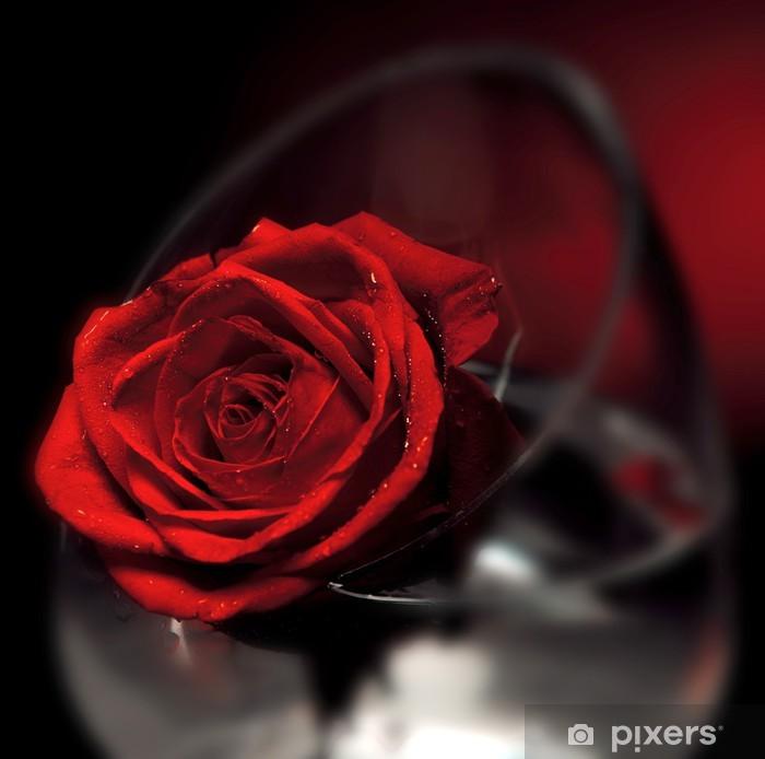 Papier peint vinyle Fleur de Rose rouge - Fêtes internationales