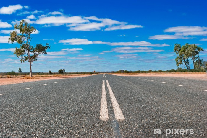 Sticker Pixerstick Route dans l'outback australien - Océanie