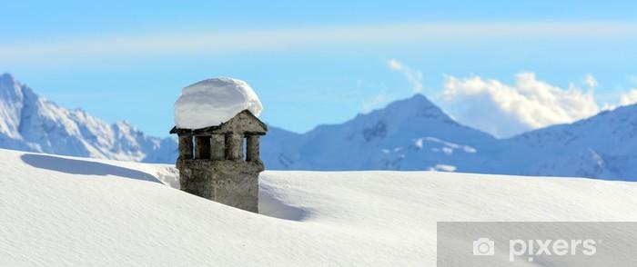 Inverno in montagna Pixerstick Sticker - Seasons