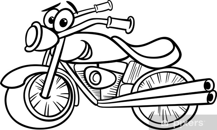 Bike Or Chopper Coloring Page Sticker Pixers We Live To Change