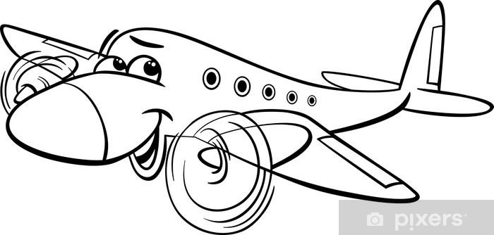 Sticker Pour Ordinateur Portable Avion D Air Coloriage De Dessin Anime Pixers Nous Vivons Pour Changer