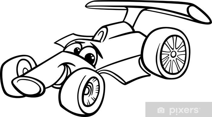 Yarış Arabası Yarış Arabası Boyama çıkartması Pixerstick Pixers