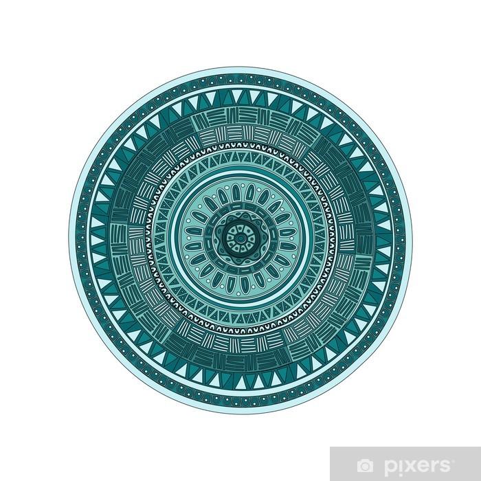 Papier peint vinyle Round motif ornamend de mandala - Sticker mural