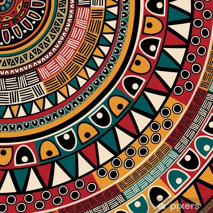 Pixerstick Sticker Tribal etnische achtergrond - Stijlen