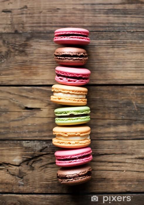 Vinilo Pixerstick Macarons coloridos franceses tradicionales - Temas