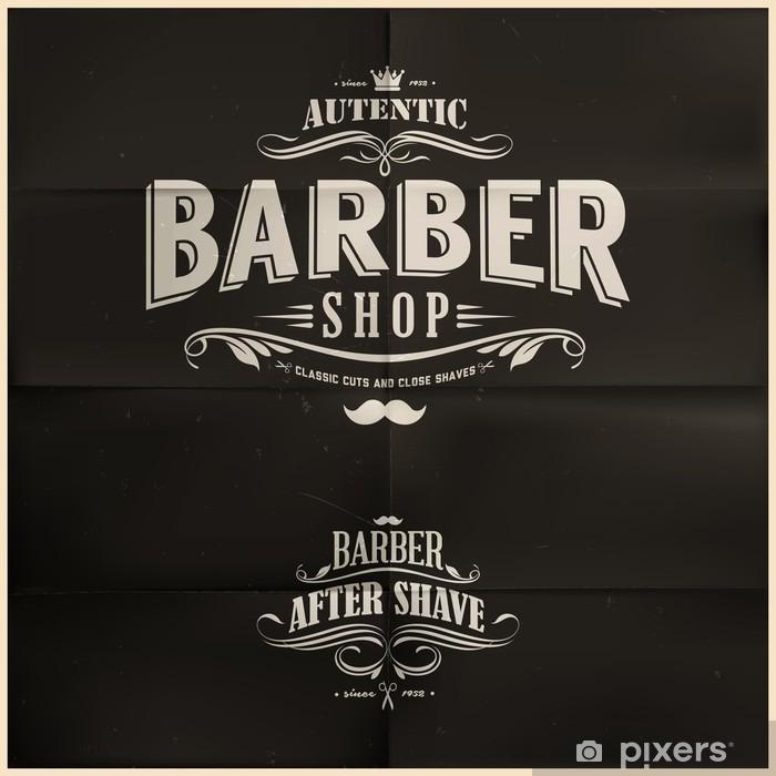 Fototapeta winylowa Zabytkowe odznaczenia fryzjera - Przeznaczenia