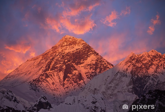 Mount Everest (8848 m) at sunset. Vinyl Wall Mural - Themes