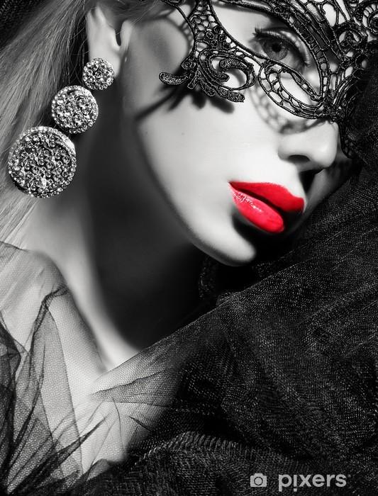 beauty face Pixerstick Sticker - Women
