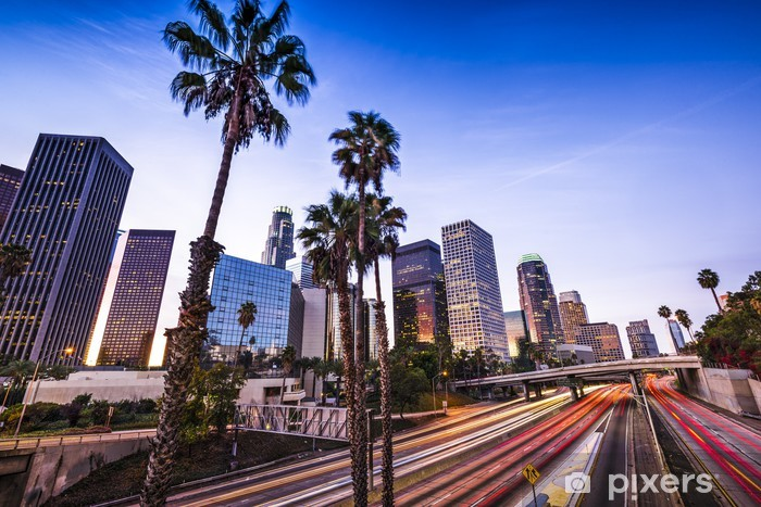 Downtown Los Angeles Pixerstick Sticker - Themes